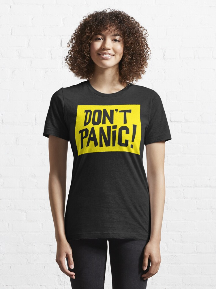 Alternate view of NDVH Don't Panic - Yellow 2 H2G2 Essential T-Shirt