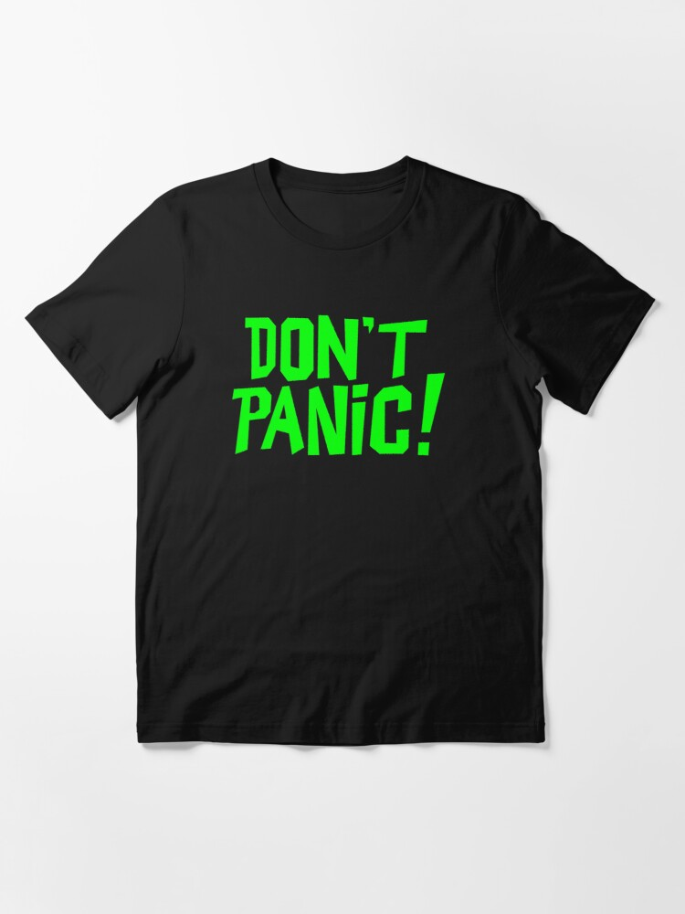 Alternate view of NDVH Don't Panic - Green 1 H2G2 Essential T-Shirt