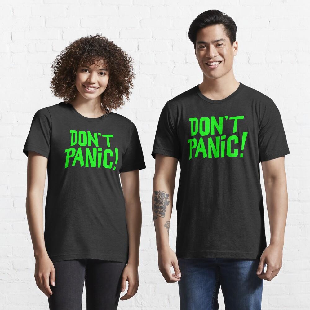 NDVH Don't Panic - Green 1 H2G2 Essential T-Shirt
