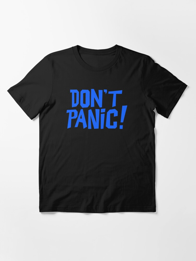 Alternate view of NDVH Don't Panic - Blue 1 H2G2 Essential T-Shirt