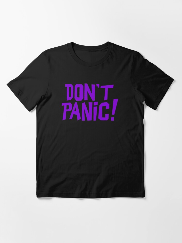Alternate view of NDVH Don't Panic - Purple 1 H2G2 Essential T-Shirt