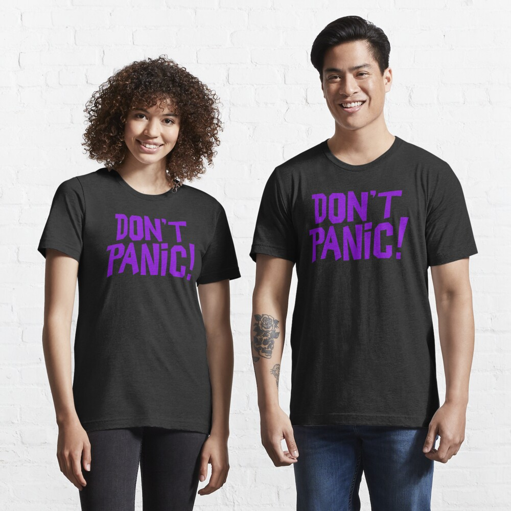NDVH Don't Panic - Purple 1 H2G2 Essential T-Shirt