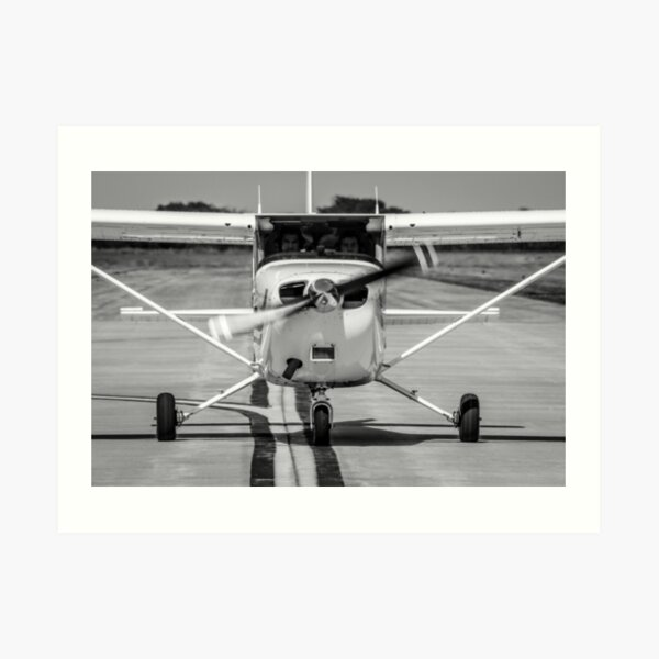Cessna 172 on Taxiway Art Print