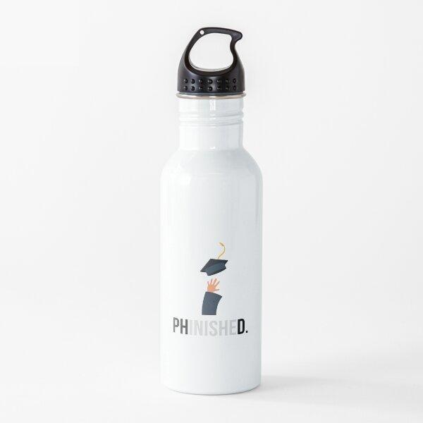 Regalo de graduación de doctorado - Phinished con imagen Botella de agua