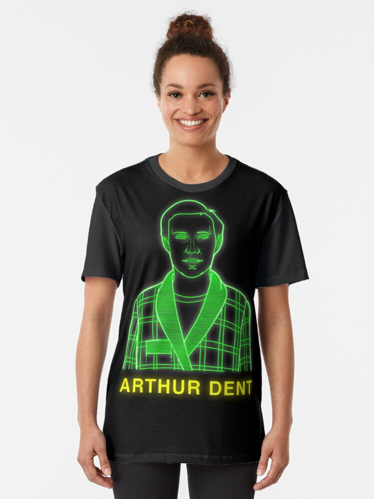 Alternate view of NDVH Arthur Dent H2G2 Graphic T-Shirt