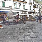 Amalfi: square with fountain by Giuseppe Cocco