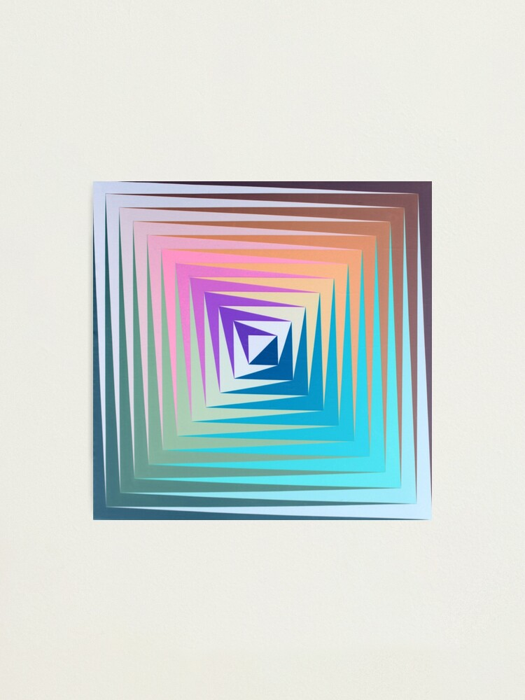 Alternate view of Victor #Vasarely, was a Hungarian-French #artist, who is widely accepted as a #grandfather and leader of the #OpArt movement Photographic Print