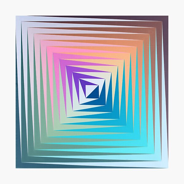 Victor #Vasarely, was a Hungarian-French #artist, who is widely accepted as a #grandfather and leader of the #OpArt movement Photographic Print