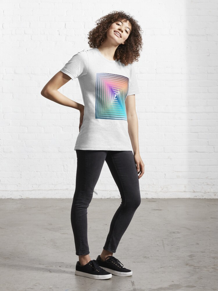 Alternate view of Victor #Vasarely, was a Hungarian-French #artist, who is widely accepted as a #grandfather and leader of the #OpArt movement Essential T-Shirt