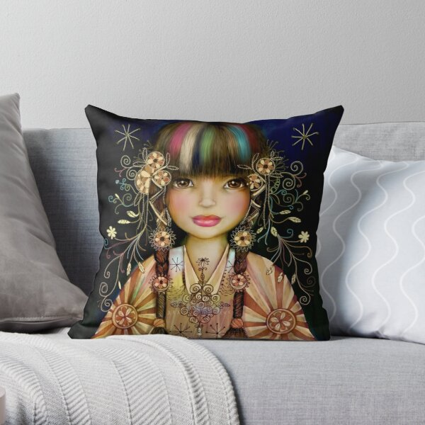 Rainbow Princess Throw Pillow