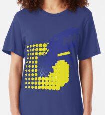 SLASH!! (Matrix Blue) Slim Fit T-Shirt