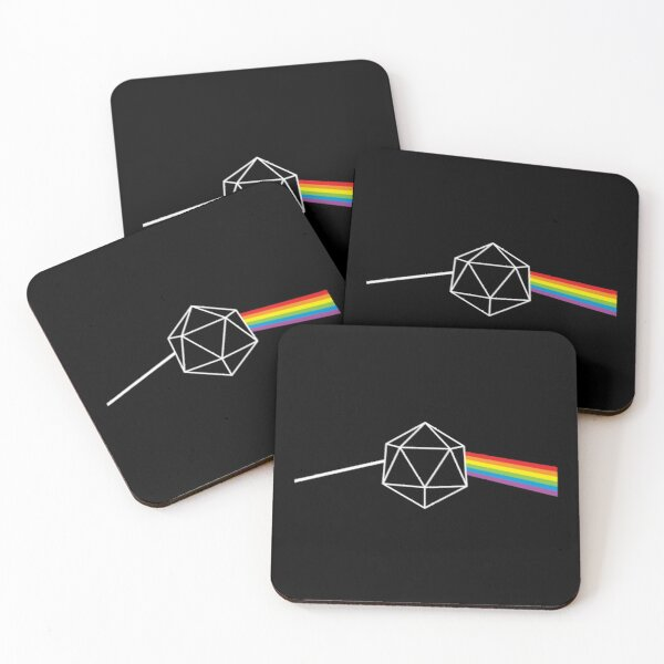 Dungeons and Dragons Dark Side of the Moon Pink Floyd Coasters (Set of 4)