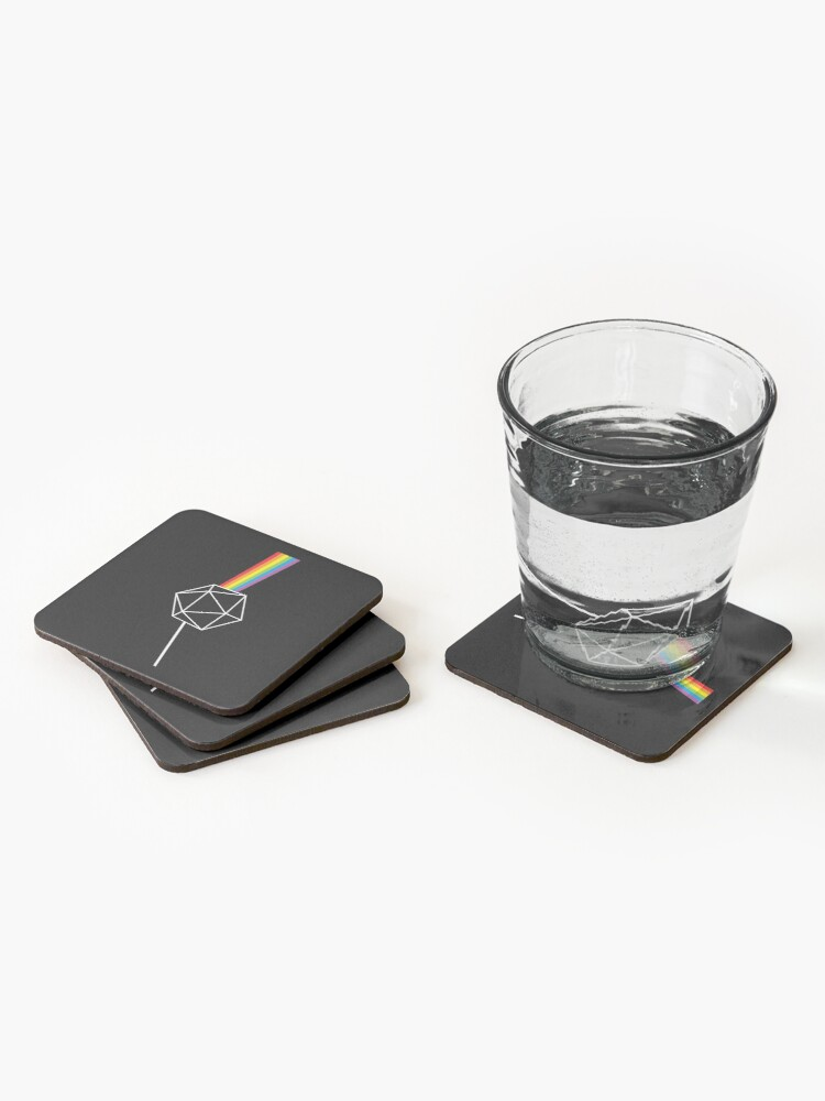 Alternate view of Dungeons and Dragons Dark Side of the Moon Pink Floyd Coasters (Set of 4)