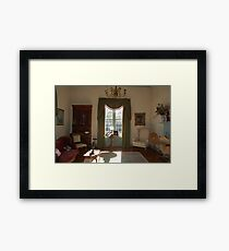Stagecoach sitting room Framed Print