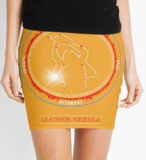 Leather Nebula Mini Skirt