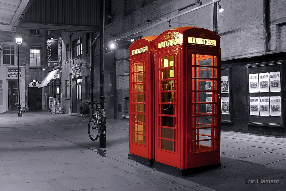 Red Telephone Box by Eric Flamant