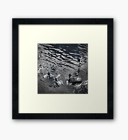 Rhythm #3 - Squat, Swim, Go Up and Stand Framed Print