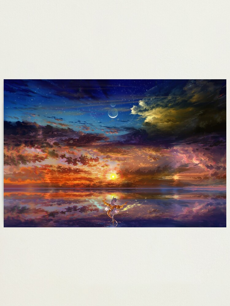Alternate view of Dragon Girl Sunset Photographic Print