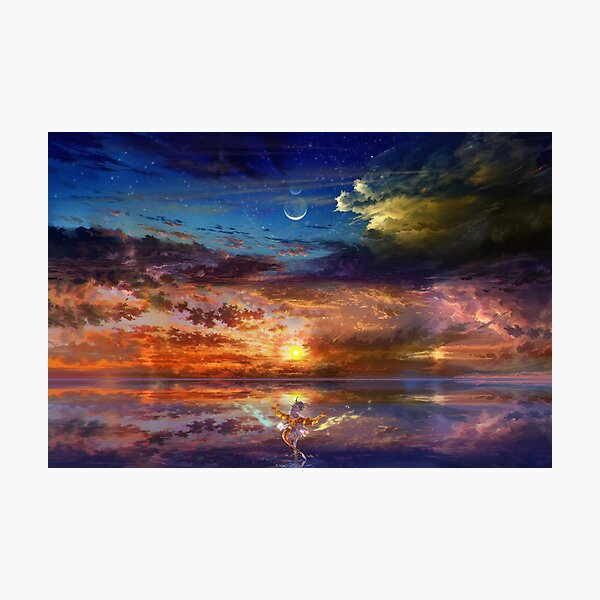 Dragon Girl Sunset Photographic Print