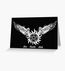 Supernatural Non Timebo Mala Greeting Card