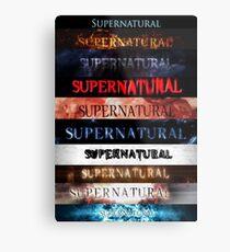 Supernatural intro seasons 1-10 Metal Print