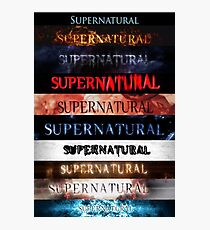 Supernatural intro seasons 1-10 Photographic Print