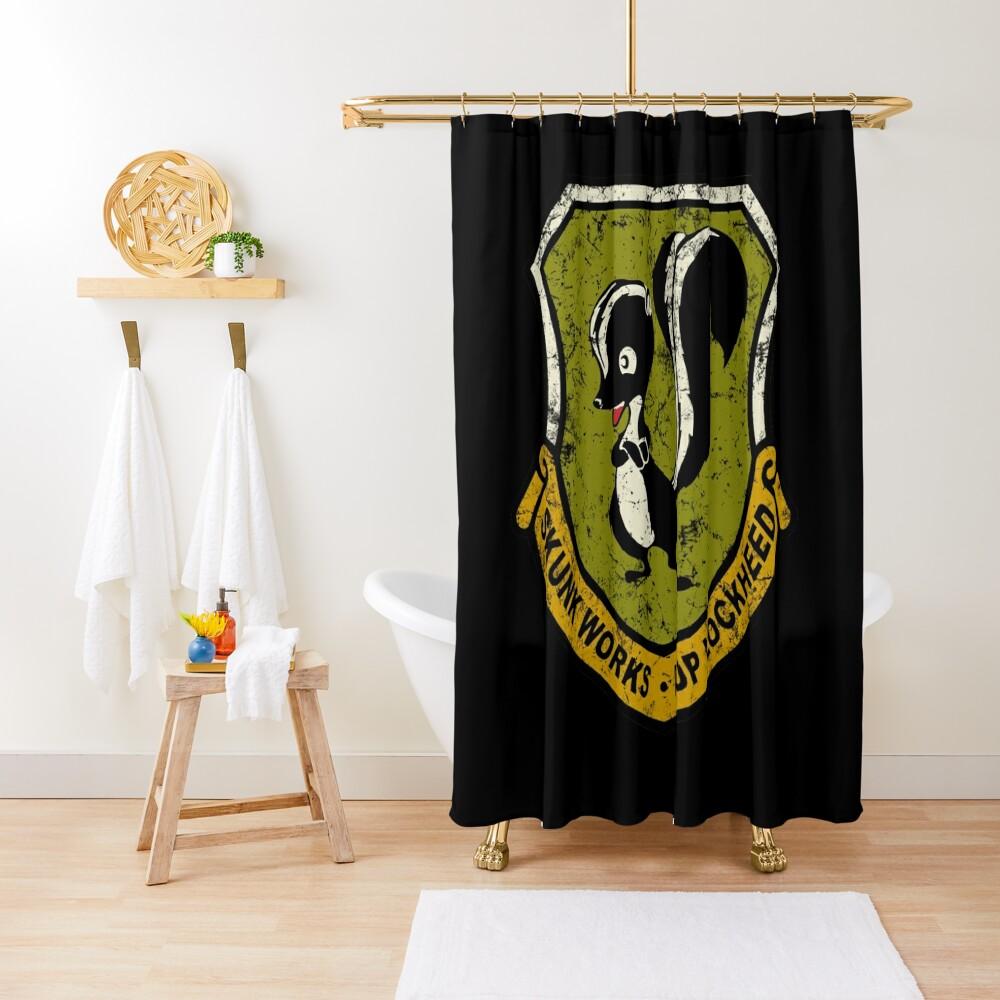 Lockheed Martin Skunk Works vintage logo Shower Curtain