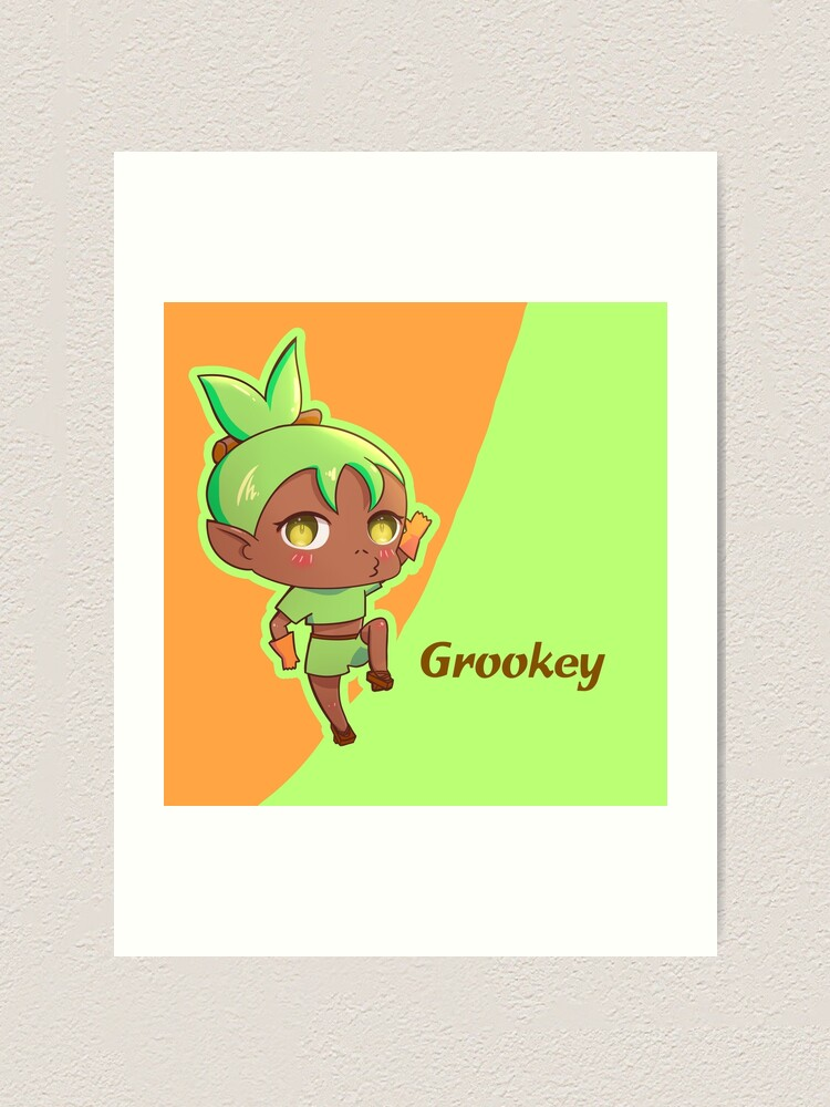 Grookey Pokemon Sword And Shield Starter Pokemon Chibi Gijinka Art Print By Ellione Loire Redbubble Ryan's family christmas special 2019!!! redbubble