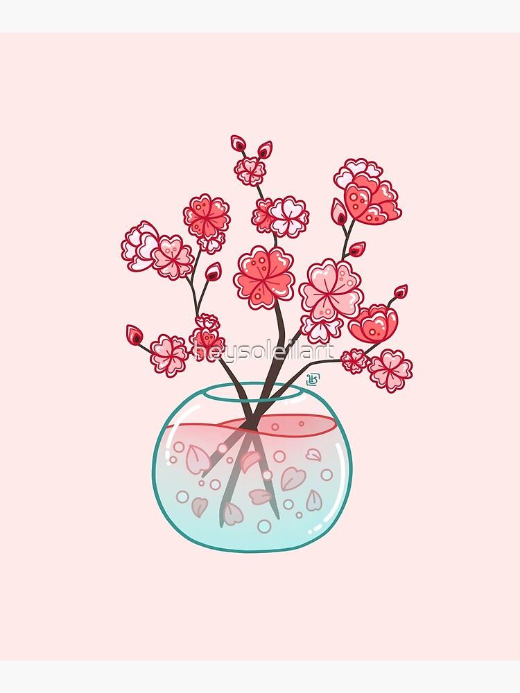 Ramo de cristal de Sakura de heysoleilart