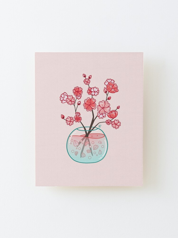 Vista alternativa de Lámina montada Ramo de cristal de Sakura