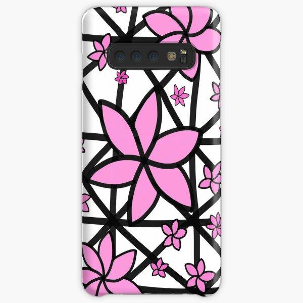 Pink Lattice Flower Samsung Galaxy Snap Case