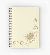 Climbing Lotus in Henna Spiral Notebook