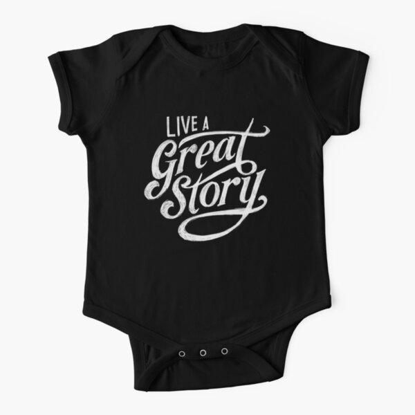Copy of Live a great story  Short Sleeve Baby One-Piece