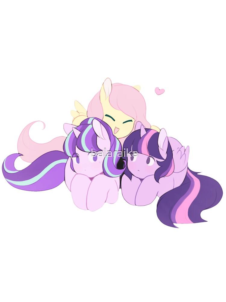 BFFS - My Little Pony (fluttershy, Starlight Glimmer & Twilight Sparkle)