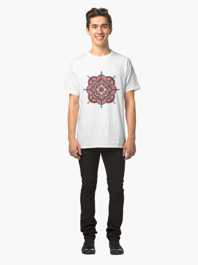 Alternate view of Red Mandala  Classic T-Shirt