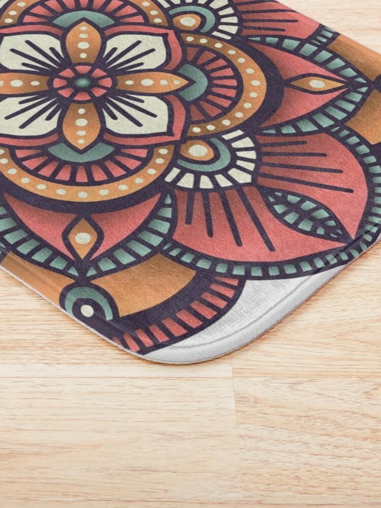 Alternate view of Red Mandala  Bath Mat