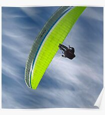 Paragliding in the sky Poster
