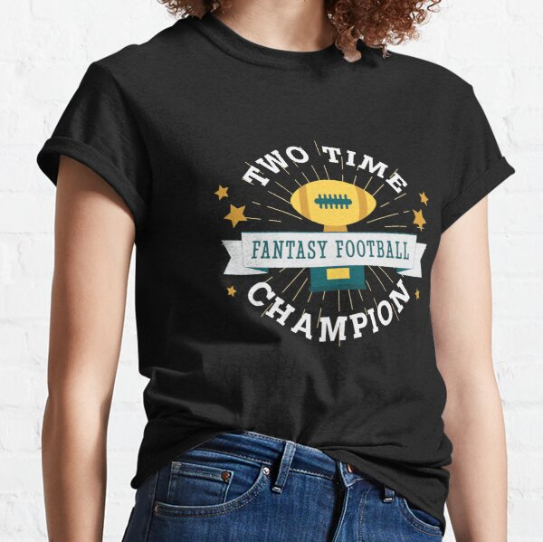 Two Time Champion Fantasy Football Classic T-Shirt