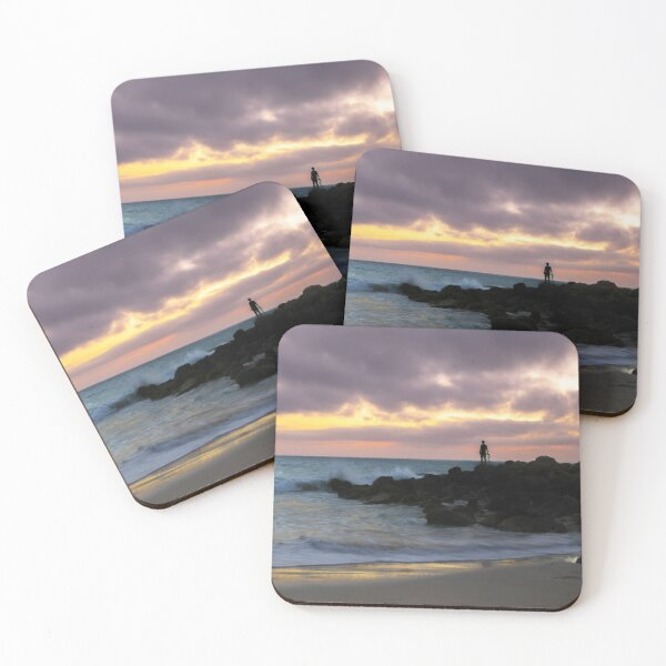 Moore River Rocks at Sunset - Western Australia Coasters (Set of 4)