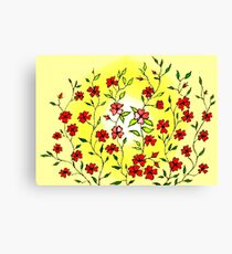 Red Blooms on a Sunshiny Day Canvas Print