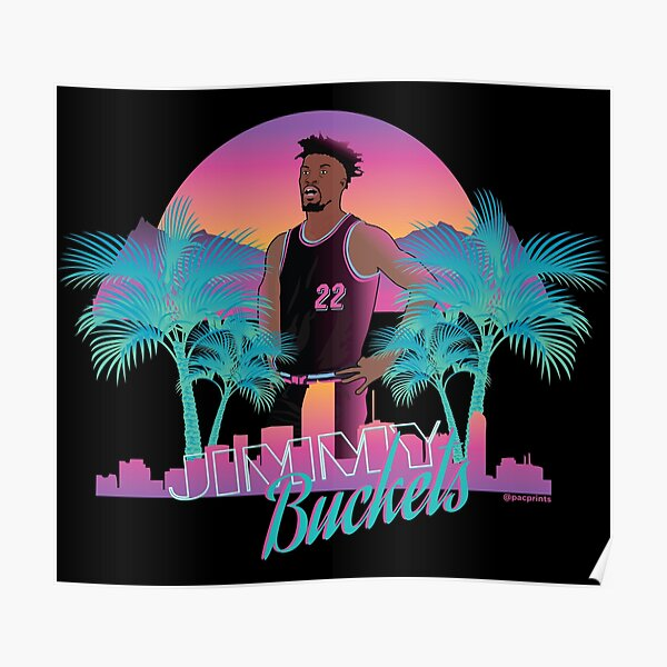 Jimmy Butler 'Buckets' Miami Vice Minimalist Art // T shirt, phone cases, stickers and more Poster