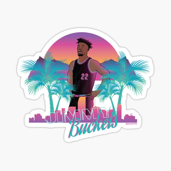 Jimmy Butler 'Buckets' Miami Vice Minimalist Art // T shirt, phone cases, stickers and more Sticker