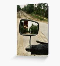 Track Reflection: Pinhole Greeting Card