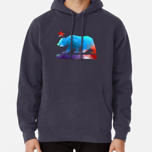California State Flag Bear (fractal angles) Pullover Hoodie