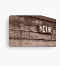 retro metro Canvas Print