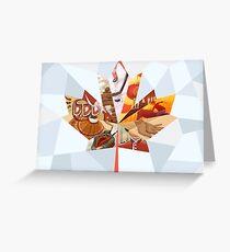 Kanadisches Mosaik Grußkarte