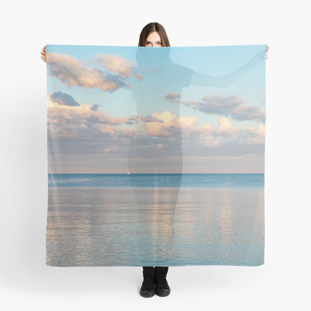 Glossy Rose Gold and Sapphire Blue - Waterside Relaxation Zone Scarf