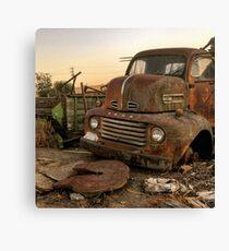 Rusty ol' farm truck  Canvas Print