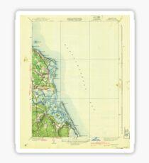 Massachusetts  USGS Historical Topo Map MA Scituate 352152 1940 31680 Sticker