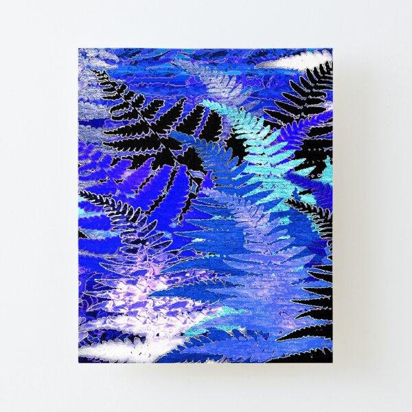 Ferns, Moonlight Blue Canvas Mounted Print